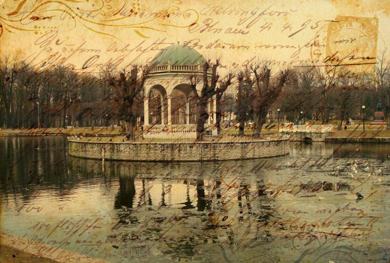 De prentbriefkaar van het park royalty-vrije stock foto's