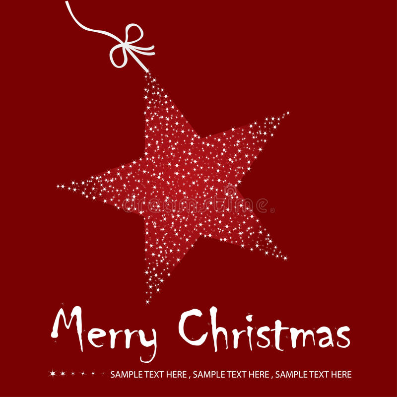 De prentbriefkaarillustratie van Kerstmis vector illustratie