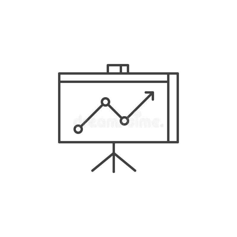 De presentatie bracht Vectorlijnpictogram met elkaar in verband stock illustratie