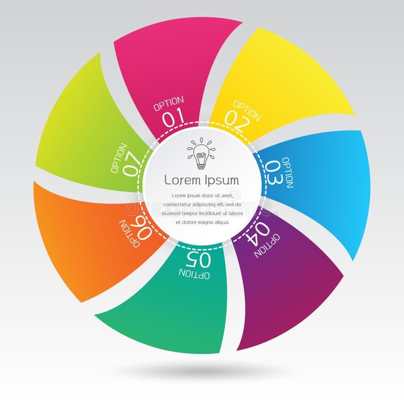 De Presentatie Cirkeldiagram van het de bedrijfs van Infographic vector illustratie