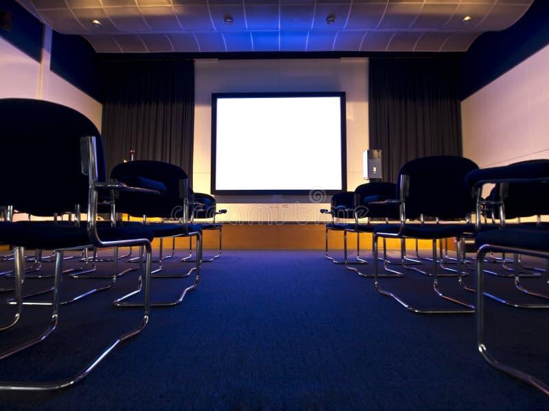 De presentatie van de de zaalfilm van de conferentie royalty-vrije stock fotografie