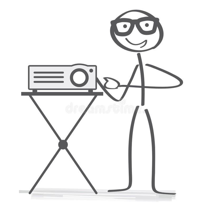 De presentatie van de gegevensprojector stock illustratie