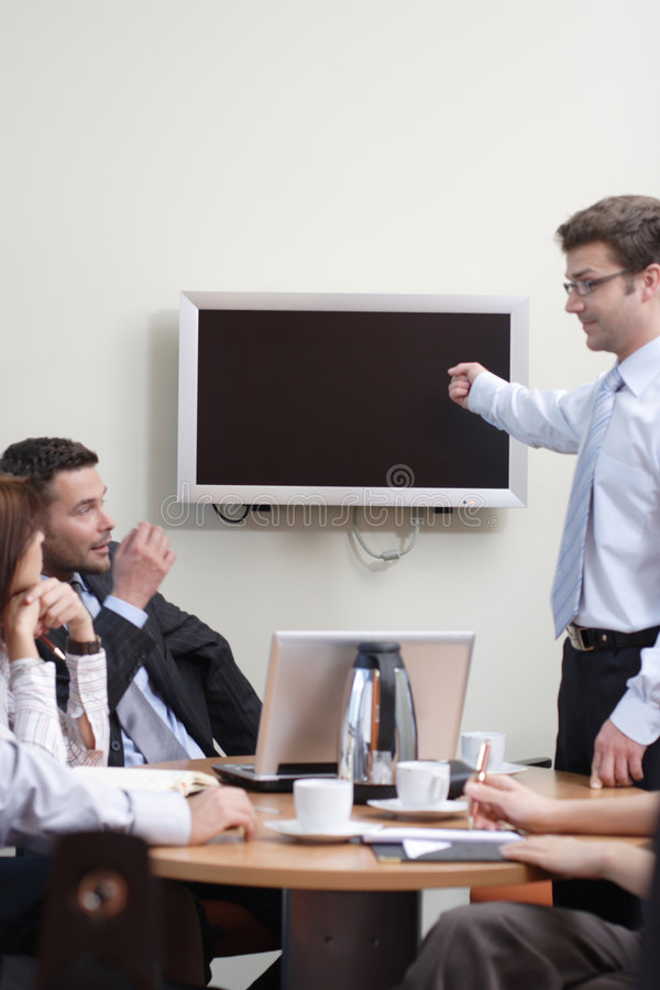 De Presentatie van de zakenman stock afbeelding