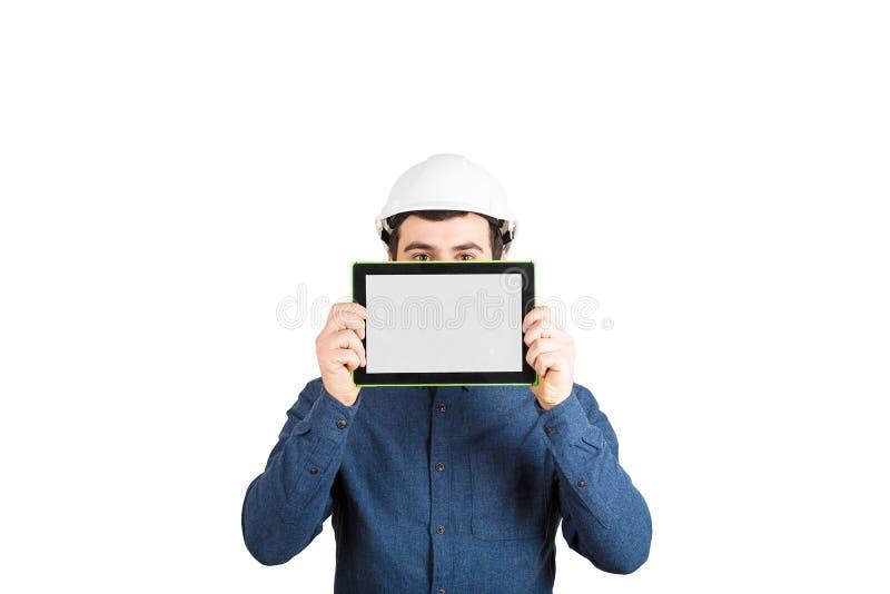 De presentatie van het ingenieursproject royalty-vrije stock afbeelding