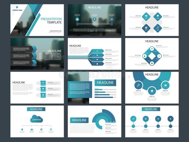 De presentatiemalplaatje van bundel infographic elementen bedrijfs jaarverslag, brochure, pamflet, reclamevlieger,