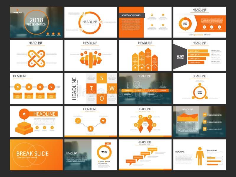 De presentatiemalplaatje van bundel infographic elementen bedrijfs jaarverslag, brochure, pamflet, reclamevlieger, collectieve ma royalty-vrije illustratie