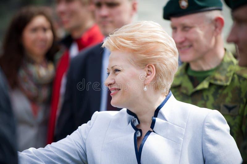 De President van Litouwen Dalia Grybauskaite royalty-vrije stock foto's