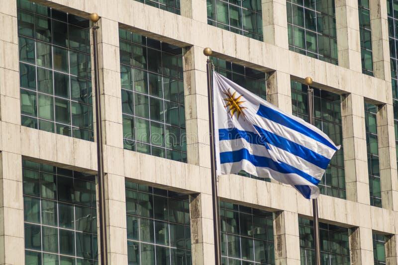 De presidentiële bouw van Montevideo stock foto