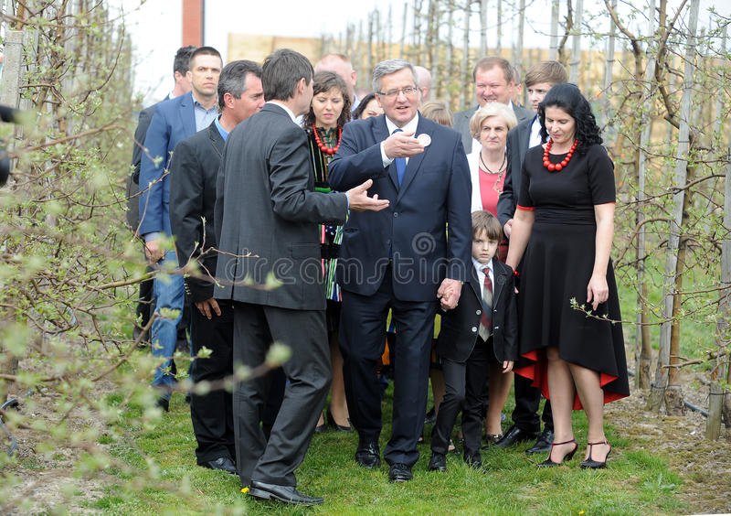 De presidentiële campagne van Bronislawkomorowski stock fotografie