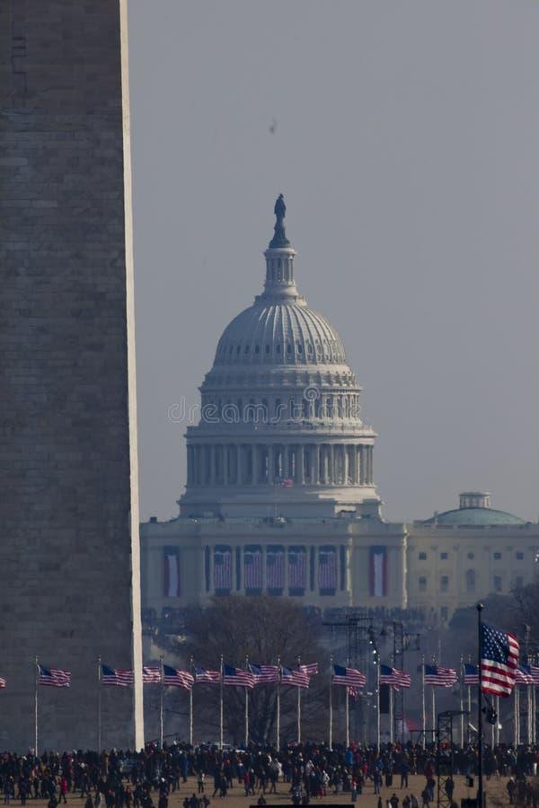 De presidentiële Inauguratie van Barack Obama stock foto's
