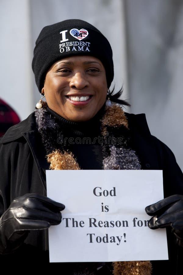 De presidentiële Inauguratie van Barack Obama stock afbeeldingen