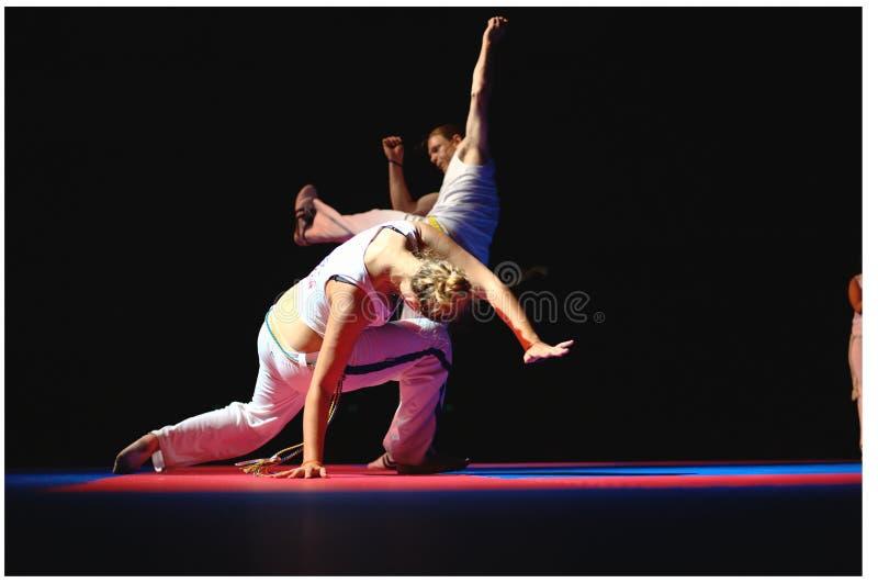 De Prestaties van Capoeira stock foto's