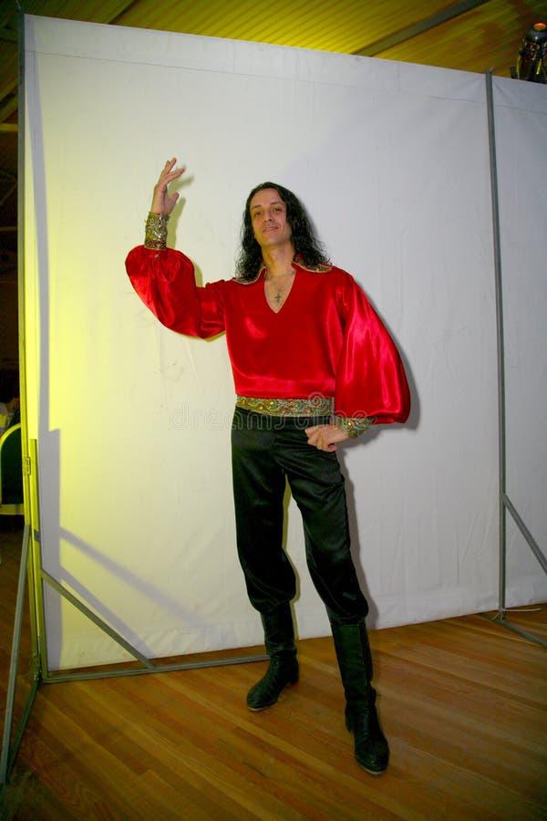De prestaties van dansende en vocale Zigeunerband Yar Priozersk stock afbeelding