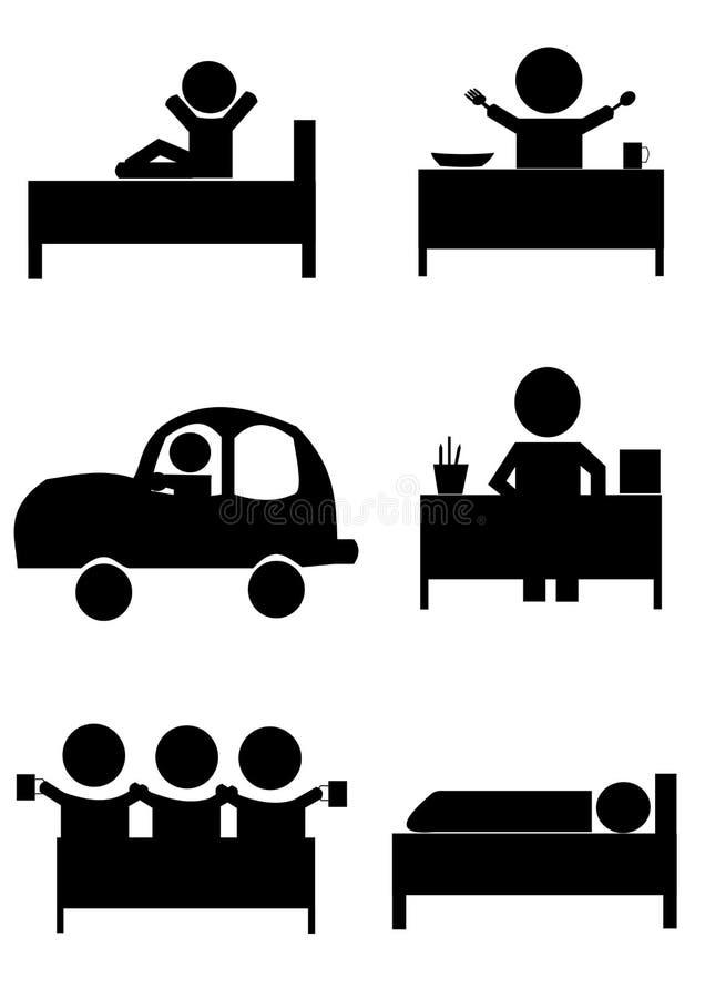 De prestaties van de het levenscyclus in een dag vector illustratie