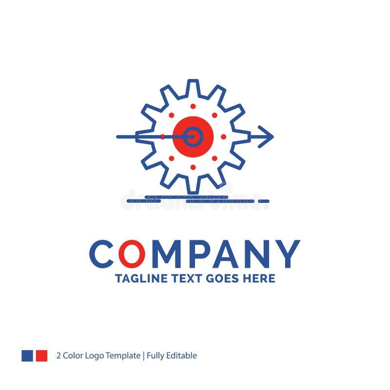 De prestaties van Firmanaamlogo design for, vooruitgang, het werk, settin royalty-vrije illustratie