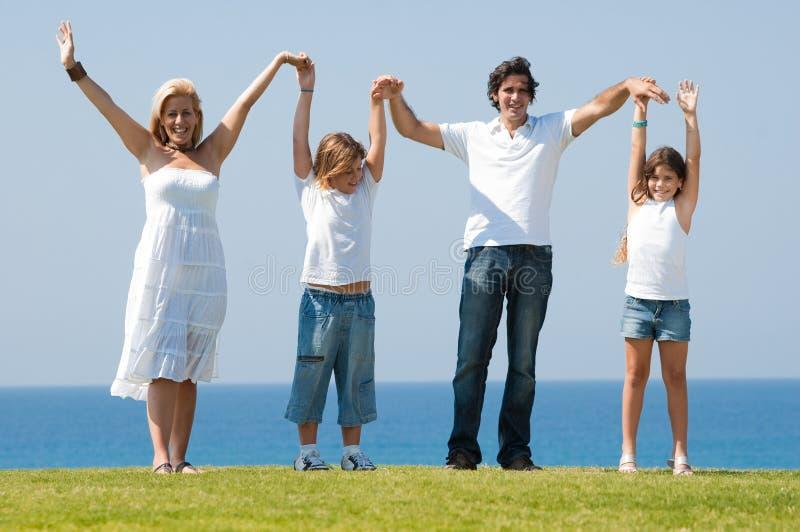 De pret van de familie in openlucht royalty-vrije stock foto