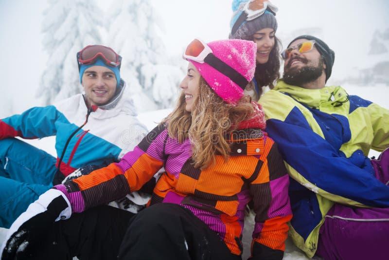 De pret van de winter stock fotografie