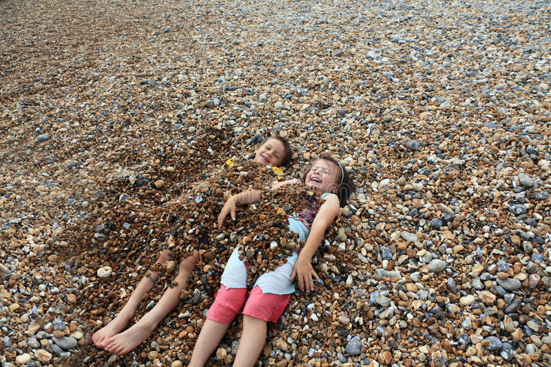 De pret van het strand stock foto