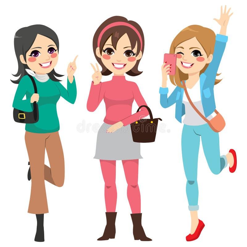 De Pret van meisjesvrienden royalty-vrije illustratie
