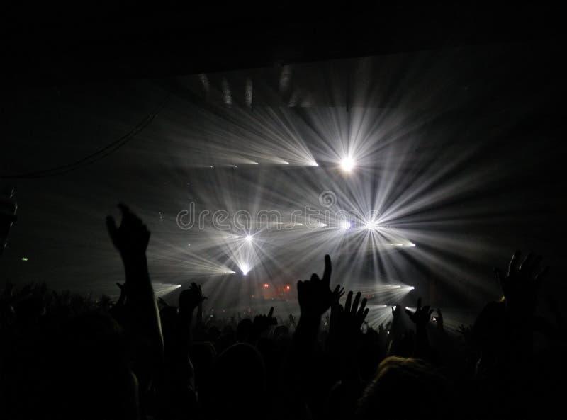 De pretdans van overleglichten stock afbeeldingen