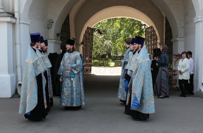 De priesters van Christian Orthodoxen stock afbeeldingen