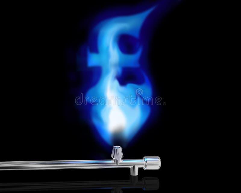 De prijs van gas stock illustratie