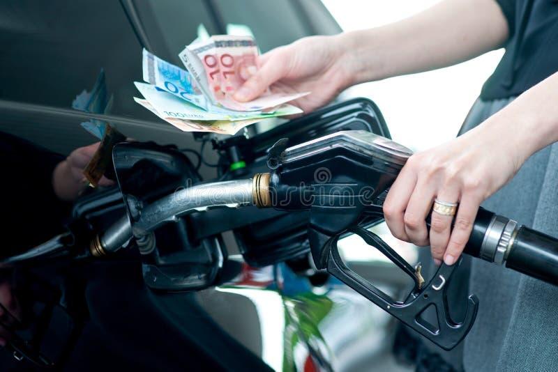 De prijs van het gas stock foto's