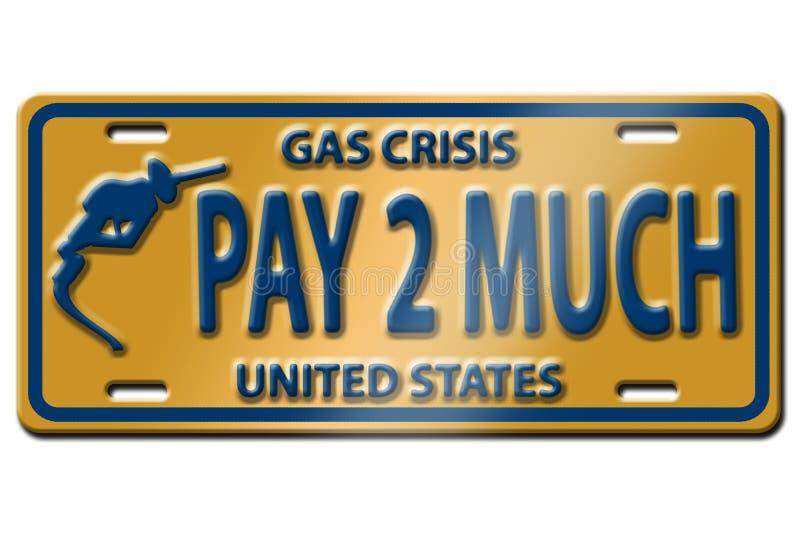 De prijscrisis van het gas royalty-vrije illustratie