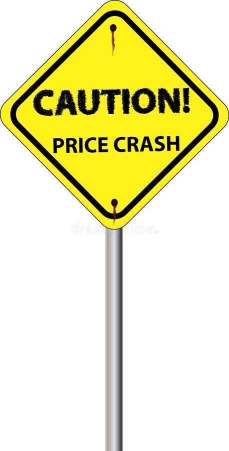 De prijsneerstorting van het teken vector illustratie