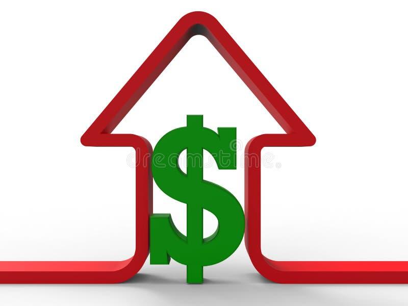 De prijzen die van het huis concept uitgaan stock illustratie