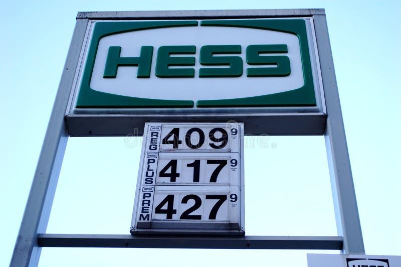 De Prijzen van het gas stock foto