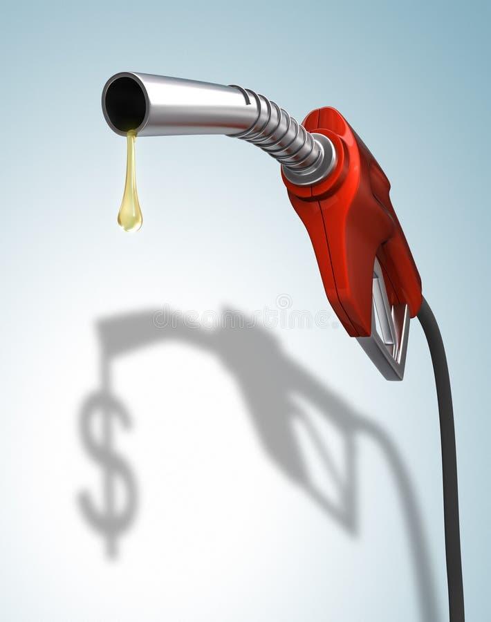 De Prijzen van het gas royalty-vrije illustratie