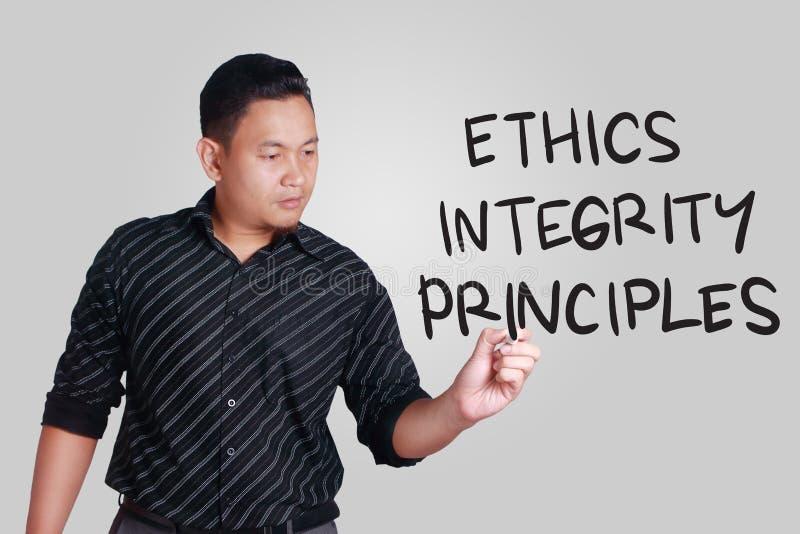 De Principes van de ethiekintegriteit, het Concept van Bedrijfswoordencitaten royalty-vrije stock afbeeldingen