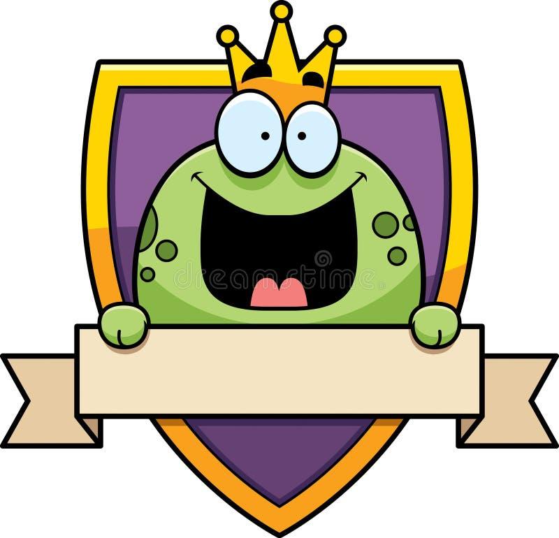 De Prins Badge van de beeldverhaalkikker royalty-vrije illustratie