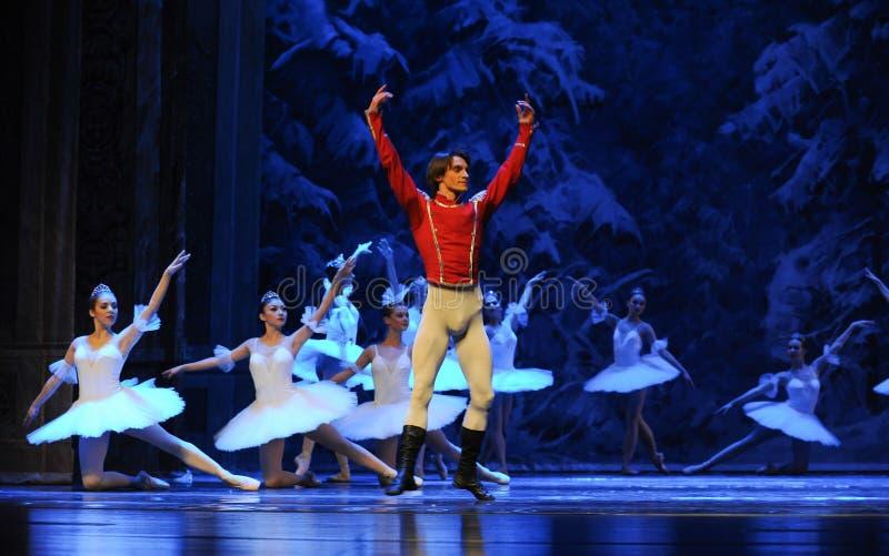 De prins de gastvrijheid-eerste handeling van het vierde Land van de gebiedssneeuw - de Balletnotekraker royalty-vrije stock afbeeldingen