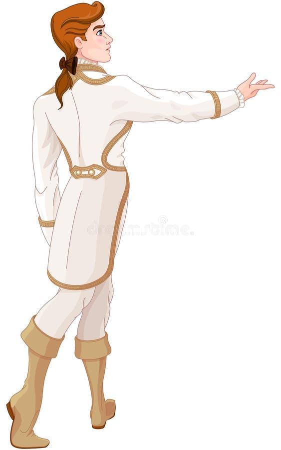 De Prins Looks After het Vluchten Cinderella stock illustratie