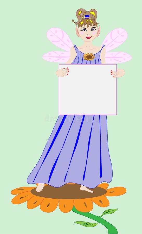 De Prinses die van de fee een Leeg Teken houdt stock foto's
