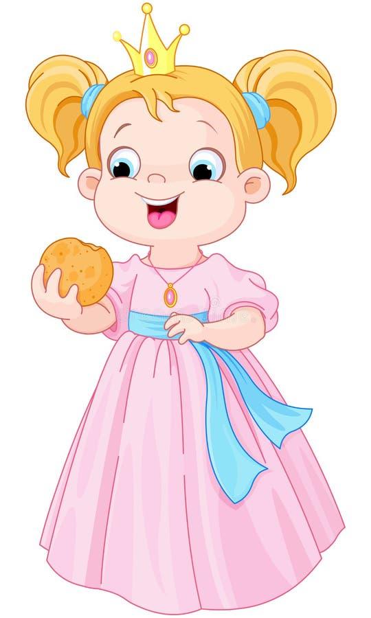 De prinses eet hamburger stock illustratie