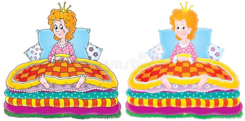 De prinses en de Erwt royalty-vrije illustratie