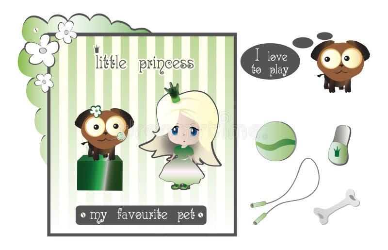 De Prinses en het Puppy stock fotografie