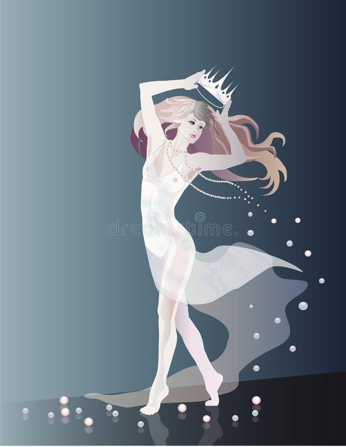 De prinses van de sneeuw stock foto's
