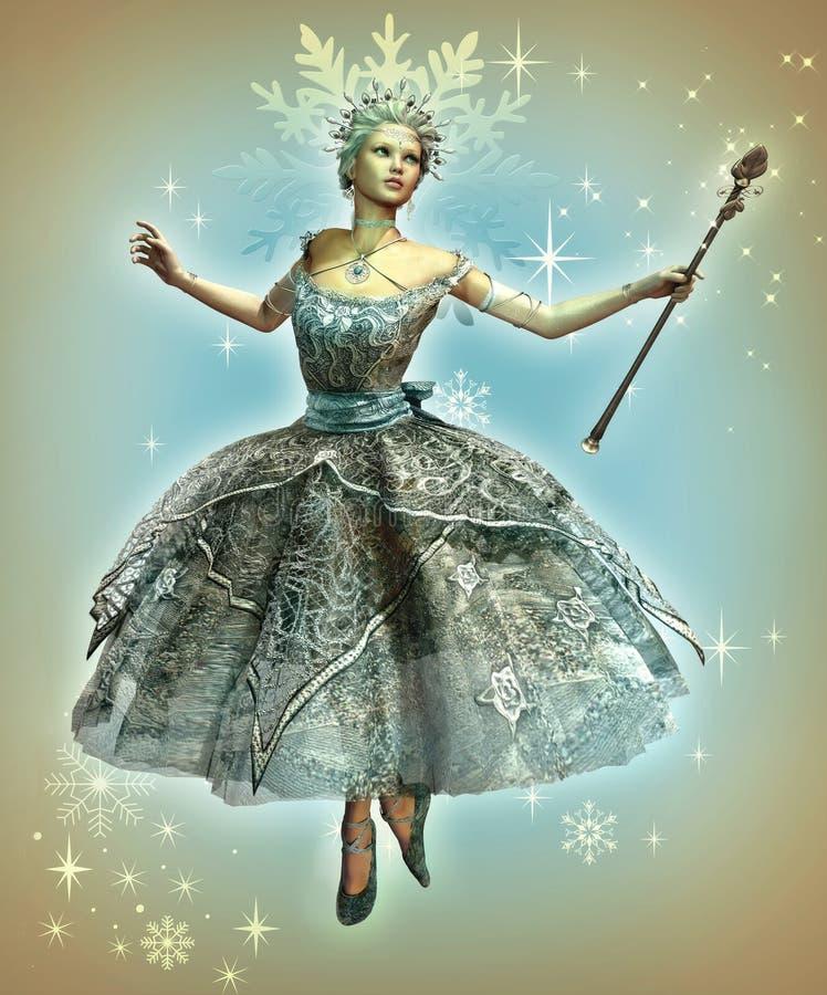 De Prinses van de sneeuwvlok royalty-vrije illustratie