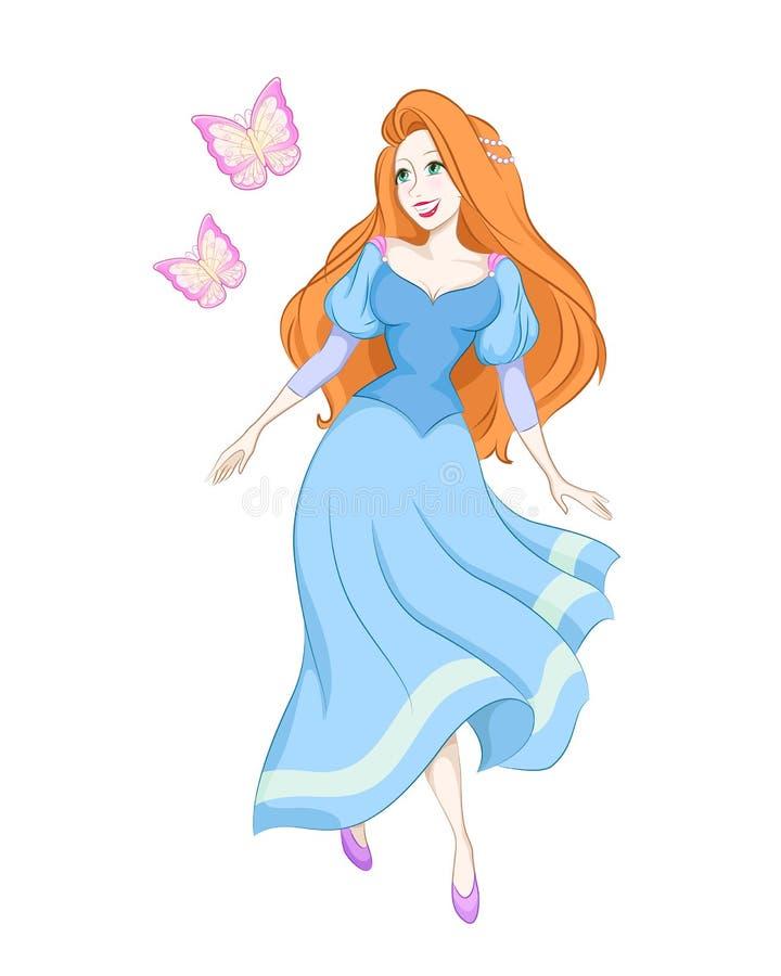 De prinses van de vlinder vector illustratie