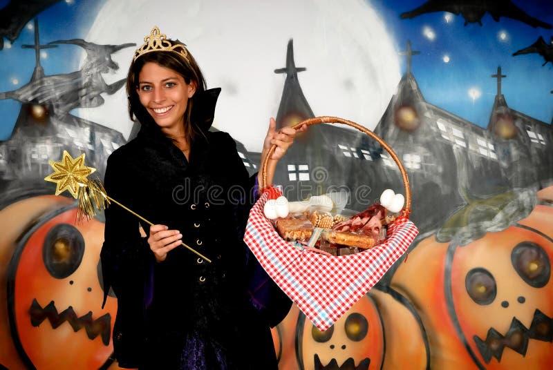 De prinses van Halloween royalty-vrije stock afbeelding