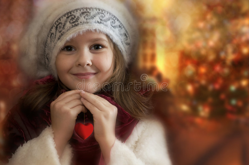 De prinses van Kerstmis stock foto