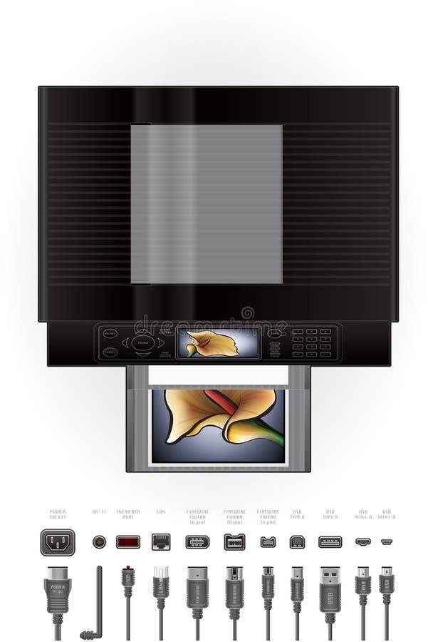 De Printer/het Fotokopieerapparaat van Inkjet van het bureau stock illustratie