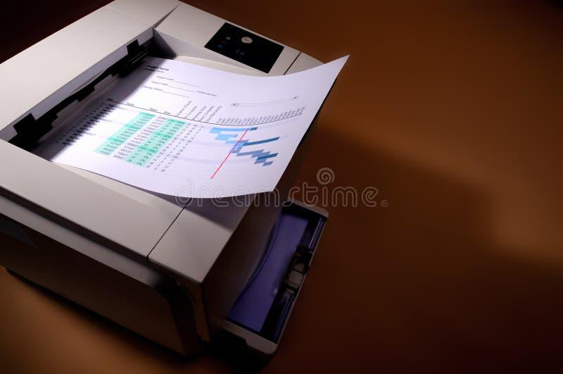 De printer van de druk stock afbeeldingen