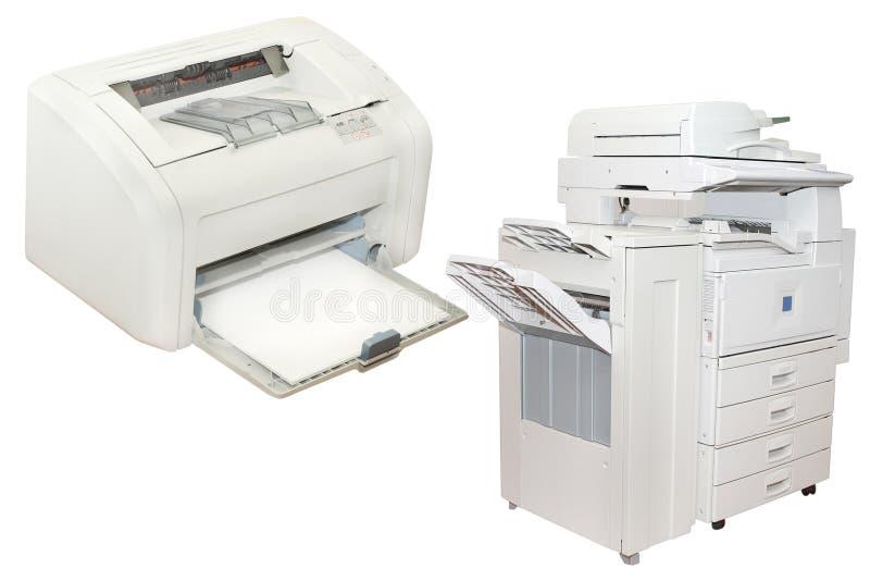 De printer van Inkjet en het kopiëren van het Bureau machine stock afbeelding