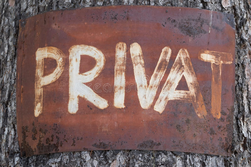 De privé orde stock afbeeldingen