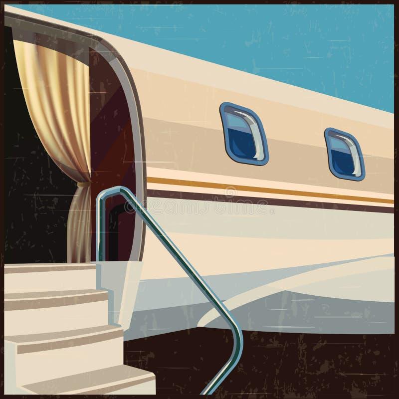 De privé retro affiche van de luchtvaartillustratie vector illustratie
